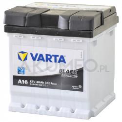 Akumulator Varta Black Dynamic A16 12V 40Ah 340A prawy+