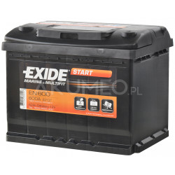 Akumulator Exide Marine & Multifit EN600 12V 62Ah 540A prawy+