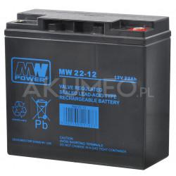 Akumulator AGM MW Power MW 22-12 VRLA 12V 22Ah