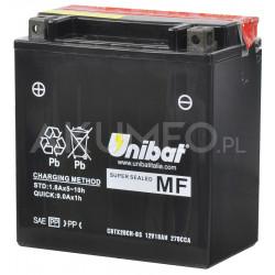 Akumulator UNIBAT AGM CBTX20CH-BS 12V 18Ah 270A lewy+
