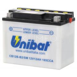 Akumulator Unibat CB12B-B2/SM 12V 12Ah 165A lewy+ oP