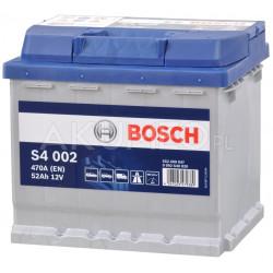 Akumulator Bosch S4 002 12V 52Ah 470A prawy+