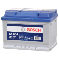 Akumulator Bosch S4 004 12V 60Ah 540A prawy+
