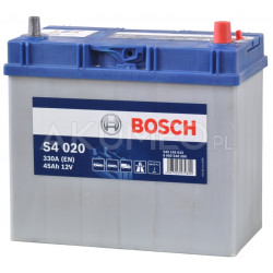 Akumulator Bosch S4 020 12V 45Ah 330A JAP prawy+