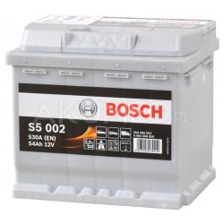 Akumulator Bosch S5 002 12V 54Ah 530A prawy+