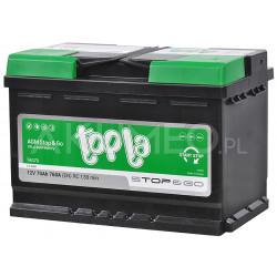Akumulator TOPLA Stop&GO AGM 70Ah 760A P+