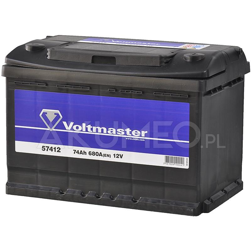 Akumulator Voltmaster 12v 74ah 680a Prawy Sklep Akumeo