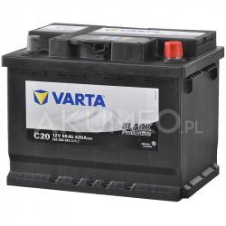 akumulator varta promotive black c20 12v 55ah 420a prawy. Black Bedroom Furniture Sets. Home Design Ideas