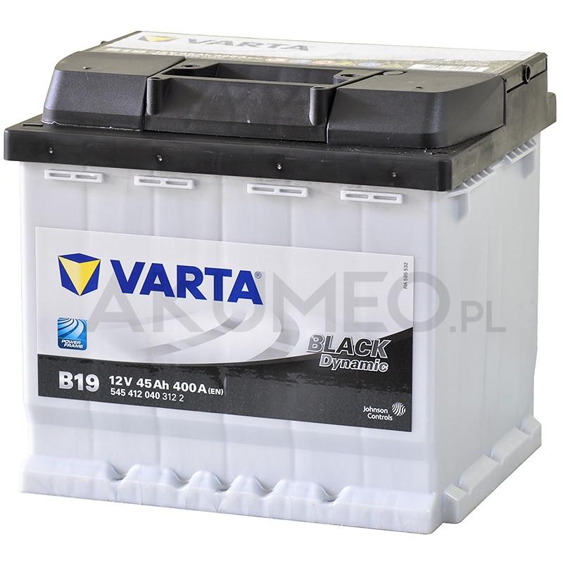 Akumulator Varta Black Dynamic B19 12V 45Ah 400A prawy+