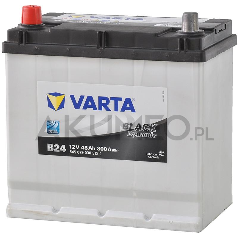 Akumulator Varta Black Dynamic B24 12V 45Ah 300A JAP lewy+