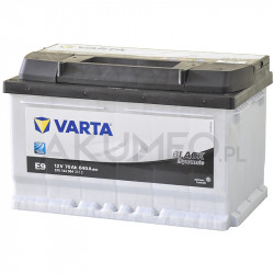 Akumulator Varta Black Dynamic E9 12V 70Ah 640A prawy+